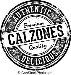 calzones, rocznik wina, włoski, znak, restauracja