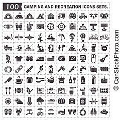 campping, ikona
