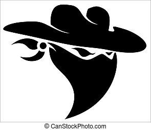 capstrzyk, kowboj, projektować, złodziej, maskotka