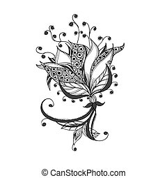 capstrzyk, kwiat, próbka, kaprys, czarnoskóry, biały