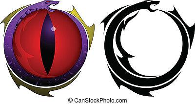 capstrzyk, oko, wąż
