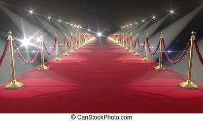 carpet., looped, animation., hd, czerwony