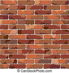 cegła, wall., stary, seamless, texture.
