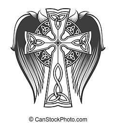 celtycki krzyż, skrzydełka