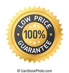 cena, gwarantować, 100%, rzeźnik, niski