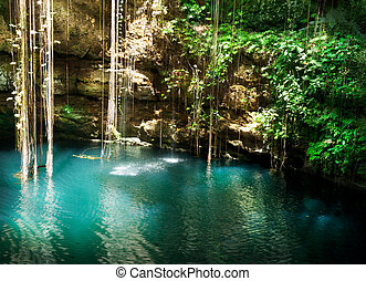 cenote, meksyk, chichen, ik-kil, itza