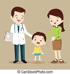 chłopiec, doktor, sprytny