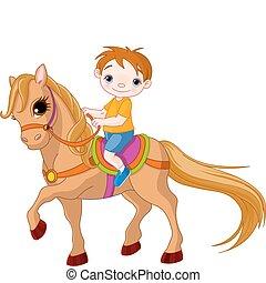 chłopiec, koń