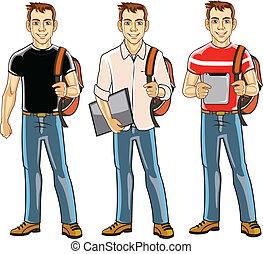 chłopiec, kolegium student