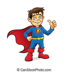 chłopiec, superhero