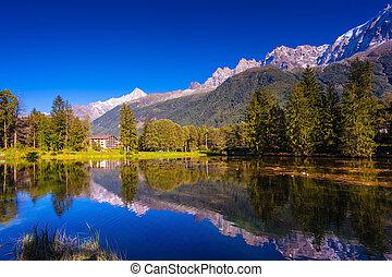 chamonix, góra, provence, uciekanie się