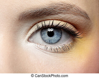 charakteryzacja, oko, panieński, pas