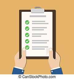 checklist, clipboard, businessman., siła robocza