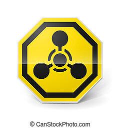 chemiczny, broń, znak