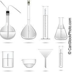 chemiczny, nauka lab, wyposażenie