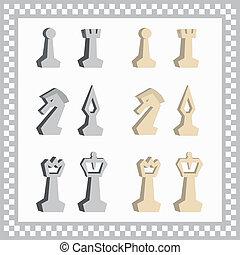 chessmen, abstrakcyjny