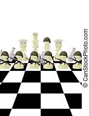chessmen, biały