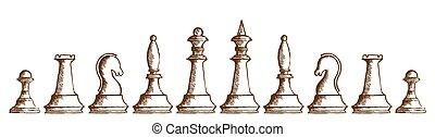 chessmen., rysunek