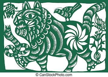 chińczyk, tiger, zodiak