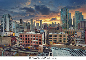 chicago, downtown.