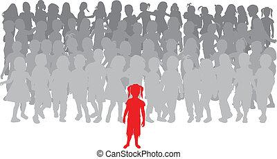 children., -, grupa, lider