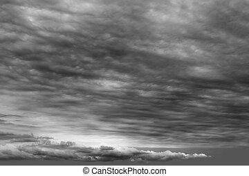 chmura, chmury, burzowy, szary, pochmurny, ciemny, dzień
