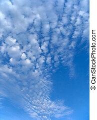 chmury, wełnisty