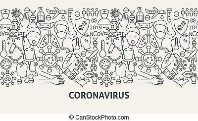 chorągiew, coronavirus, pojęcie