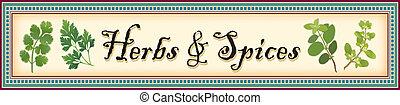 chorągiew, przyprawy, zioła