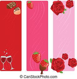 chorągwie, komplet, valentine