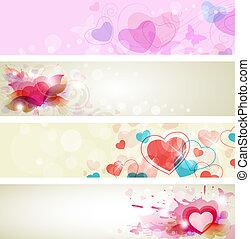 chorągwie, romantyk, valentine