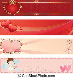 chorągwie, valentine