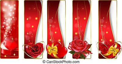 chorągwie, zbiór, valentine