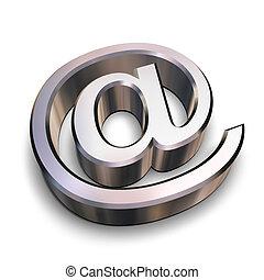 chrom, symbol, 3d