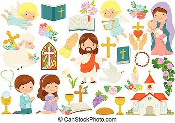 chrześcijaństwo, clipart, plik