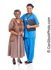 chuchnijcie pacjent, senior, afrykanin