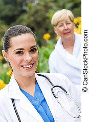 chuchnijcie pacjent, senior, outdoors