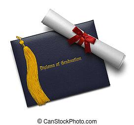chwast, dyplom, skala