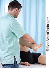 chyląc, fizykoterapeuta, kolano