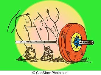 ciężki, atletyka