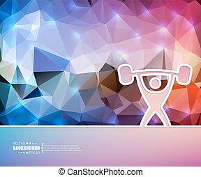 ciężki, strona, sztuka, chorągiew, tło., flyer., twórczy, prezentacja, szablon, athletics., logo, handlowy znaczą, układ, broszura, osłona, ilustracja, druk, tapeta, infographic, wektor, broszura