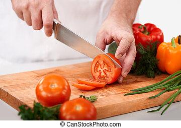 cięcie, pomidory