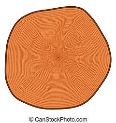 cięty, drzewo