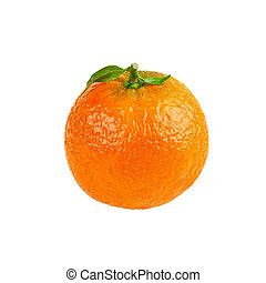 cięty, odizolowany, pomarańcza, mandaryn, owoc, poza