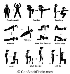 ciało, trening, pociąg, ruch, stosowność
