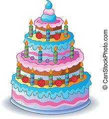 ciastko, 1, ozdobny, urodziny