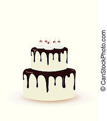 ciastko, cielna, urodziny, wiśnie