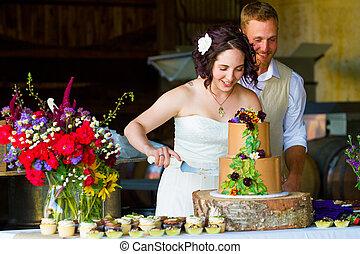 ciastko, panna młoda, cięcie, szambelan królewski, ślub