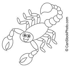 cień, skorpion