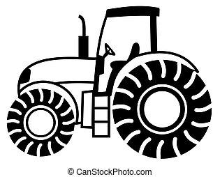 cień, traktor